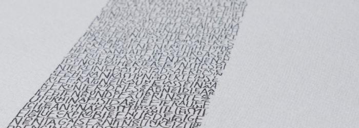 Nadja Schäffer, Typografieseminar bei Prof. Schmitz