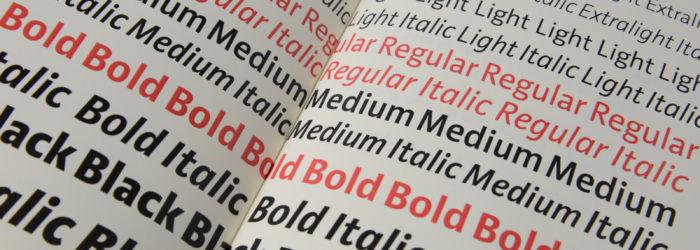 Disziplin Typografie bei Prof. Sybille Schmitz