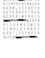 Typografische Gesetzte als experimentelles Material