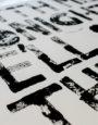 Freie Schriftarbeit – Druck mit Holz: Verena Schneider