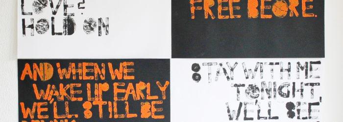 Schrift und Typografie, 1. Semester. Mediadesign Hochschule München, Klasse Prof. Sybille Schmitz