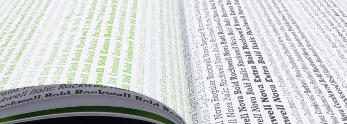 Buchprojekt »Rockwell« – Eine Schriftanalyse