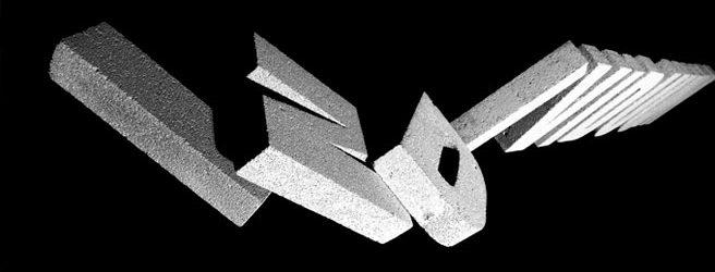 Typografie im Raum. Katharina Lutz. Klasse Prof. Sybille Schmitz
