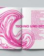 140bpm – Techno Design Magazin Editorial Design, 3. Semester.