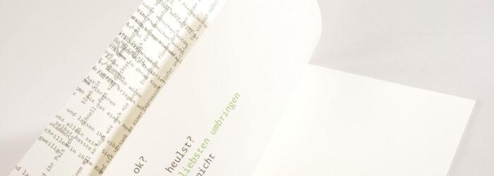 Typografie und Editorial Design (3. Semester), Klasse Prof. Sybille Schmitz, MD.H München